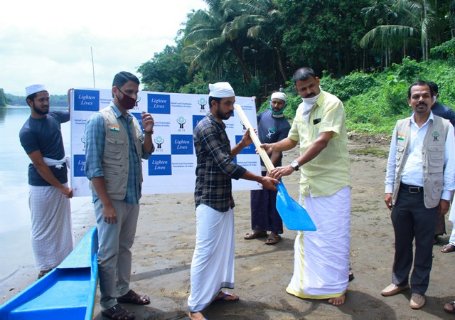 Fishing boat distributed for Unemployed Fishermen